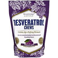 ReserveAge Nutrition, Жевательные конфеты с ресвератролом, бордовые ягоды, 30 жевательных коныет