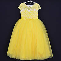 """Нарядное детское платье """"Принцесса"""". 6-7 лет. Желтое. Оптом и в розницу"""