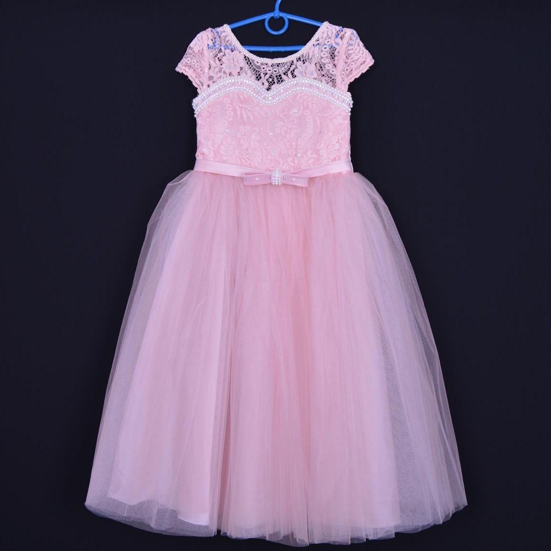 """Нарядное детское платье """"Принцесса"""". 6-7 лет. Пудра. Оптом и в розницу"""