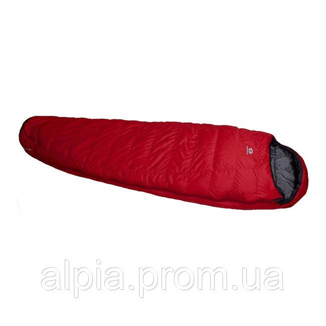 Пуховый спальный мешок Sir Joseph Rimo II 1000/170/-13.5°C Red/Anthracite (Left)