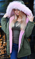 Стильная курточка с искусственным мехом