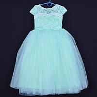 """Нарядное детское платье """"Принцесса"""". 6-7 лет. Салатово-мятное. Оптом и в розницу, фото 1"""
