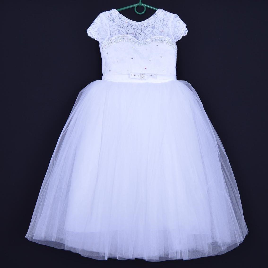 """Нарядное детское платье """"Принцесса"""". 6-7 лет. Белое. Оптом и в розницу"""