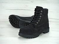 2b637e536995 Зимние ботинки Timberland classic 6 inch black с натуральным мехом (Реплика  ААА+)