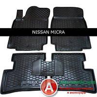 Avto-Gumm Резиновые автомобильные коврики для Nissan Micra 2003-  от Auto Gumm в салон