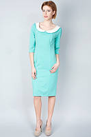Мятное облегающее платье П107