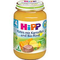 Детское пюре HiPP тыква- картофель-говядина с 4-го месяца 190 г