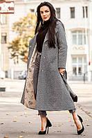 Зимнее удлиненное женское пальто из шерсти на утеплителе 140238