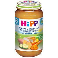 Детское пюре HiPP овощи-сладкий картофель-цыпленок с 8-го мес.