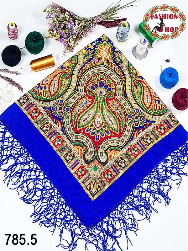 Украинский синий народный платок Киевская Русь