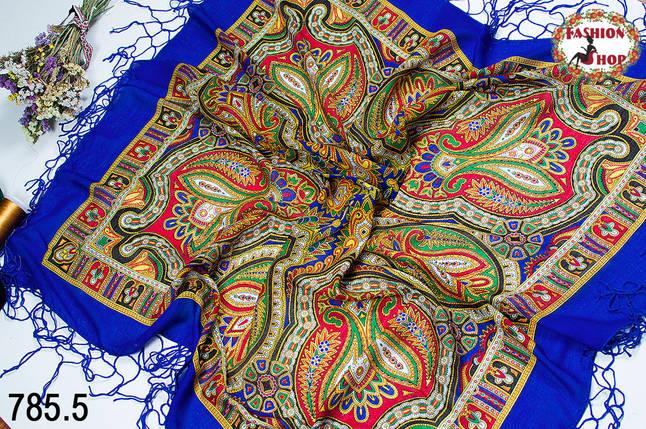 Украинский синий народный платок Киевская Русь, фото 2