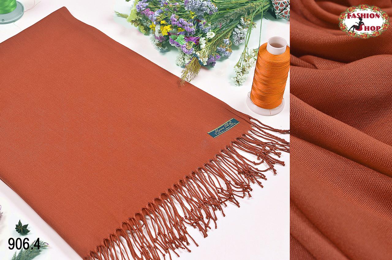 Тарракотовый шарф из пашмины