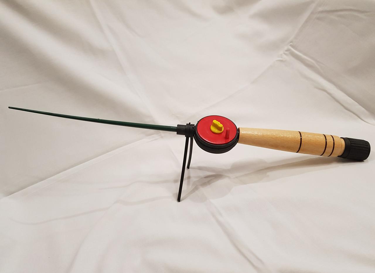 Удочка зимняя деревянная ручка