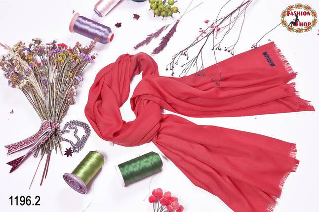 Коралловый шарф из пашмины , фото 2