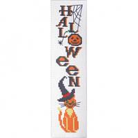 """Канва с рисунком для вышивки крестом  """"Закладка для книг """"Halloween"""""""