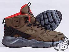 Мужские кроссовки реплика Nike Air Huarache Winter Dark Green, фото 3