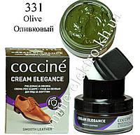 Крем для обуви из кожи Оливковый Coccine (Olive 331) 50 мл