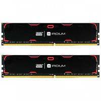 Модуль GOODRAM DDR4 2x8GB/2400 Iridium Black (IR-2400D464L15S/16GDC)