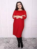 Платье с рукавом реглан 50,52,54,56 разные цвета