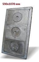 Чавунна плита (набір з рамкою) 590х1070 мм