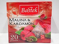 Фруктовый чай Bastek с ароматом малины и кардамона 20 пирамидок