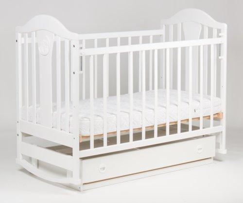 """Кроватка детская """"Наполеон"""" NEW маятник с ящиком, белый"""
