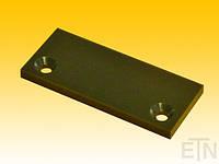 Квадратная пластина 90 x 38 x 6 мм для направляющей ролика, материал запчасти 2 x контрформа ø 6,5 мм,   Schlosser