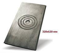 Плита чавунна одноконфорочная 320*620 мм