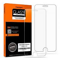 Защитное стекло Spigen для iPhone 8/7 SLIM HD (054GL22382) +Бесплатная поклейка