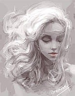 Картина по номерам без коробки Девушка из снов (BK-G114) 40 х 50 см