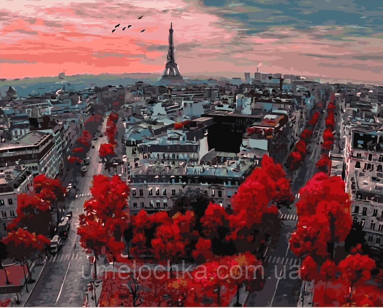 Картина по номерам без коробки Алые краски Парижа (BK-GX4887) 40 х 50 см