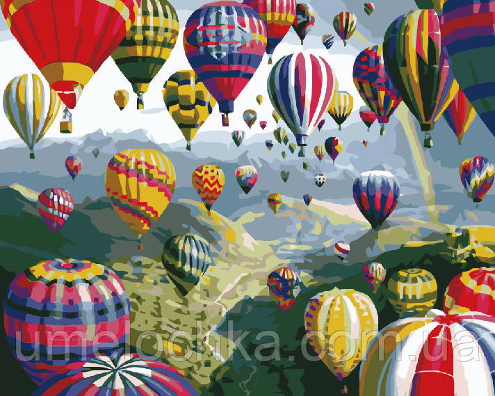 Картина по номерам без коробки Разноцветные шары (BK-GX6524) 40 х 50 см