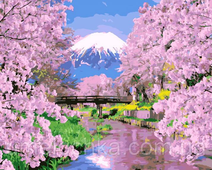 Картина по номерам без коробки Цветущая сакура (BK-GX9506) 40 х 50 см