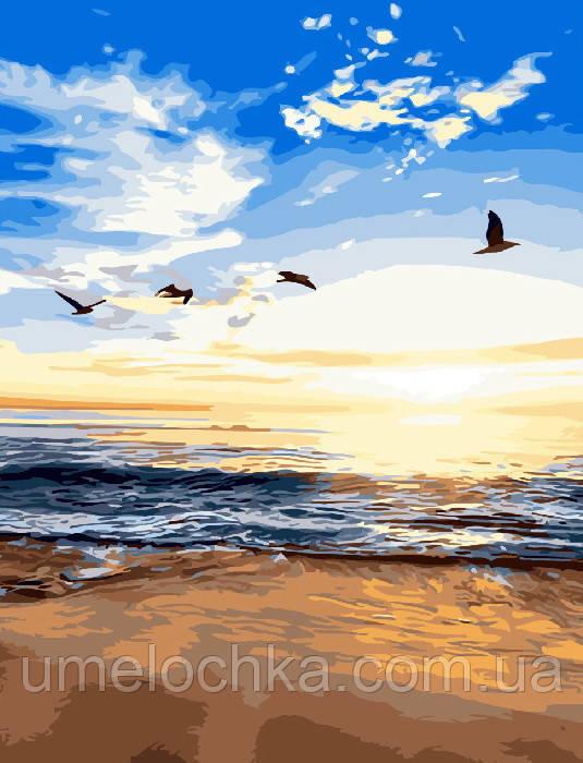 Раскраска по номерам Утренний пляж (BRM3329) 40 х 50 см