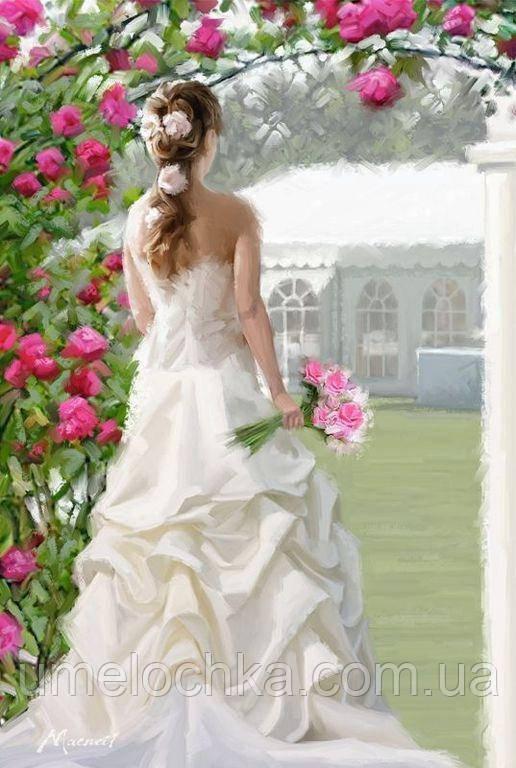 Картина по номерам Невеста с букетом (BRM3768) 40 х 50 см