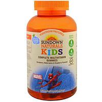 Sundown Naturals Kids, Детский, полный мультивитаминный комплекс (жевательные конфеты), Marvel Spiderman, клубника, арбуз и малина, 180 жевательных