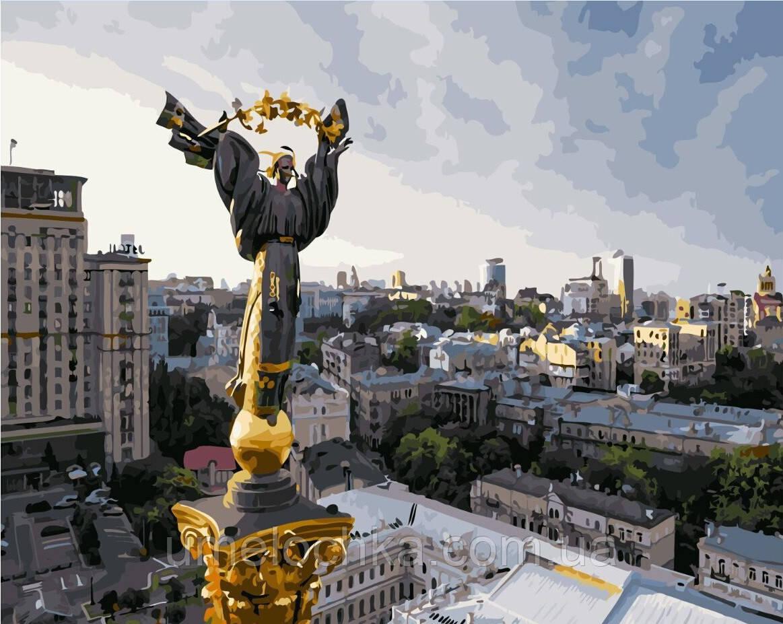 Картина по номерам Монумент Независимости (Киев) (BRM4867) 40 х 50 см