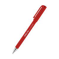 Ручка гелевая с гриппом, DG2042 корпус прорезиненный, стержень красный. Delta by Axent