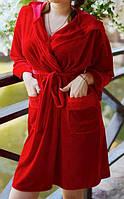 Качественный велюровый халат для женщин