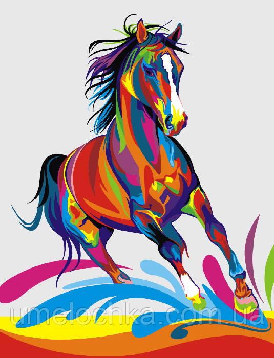 Рисование по номерам Радужный конь (BRM5331) 40 х 50 см