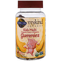 Garden of Life, Mykind Organics, Kids Multi, вишневый ароматизатор органического происхождения, 120 желейных фигурок медведей