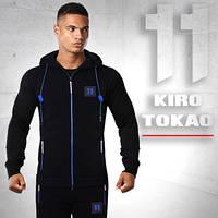 Спортивный костюм из Японии Kiro tokao 137 черный-электрик