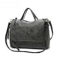 Женская сумка серая 702