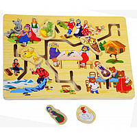 """Деревянная игрушка-лабиринт """"Сказка 2"""" для деток"""