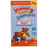 """Hero Nutritional Products, Жевательные витамины """"Вкусные мишки"""", без сахара, витамин С, полностью натуральные фруктовые ароматизаторы и красители, 60"""