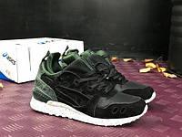 Мужские кроссовки Asics Winter Black Khaki (черные), фото 1