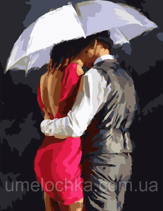 Картина-раскраска Романтика под зонтом (BRM8040) 40 х 50 см