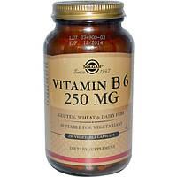 Solgar, Витамин B6, 250 мг, 250 растительных капсул