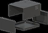 Корпус металевий MB-2 (Ш150 Г180 В90) чорний, RAL9005(Black textured), фото 2