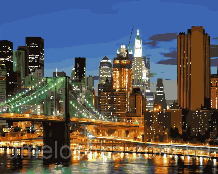 Картина-раскраска Мост в Нью-Йорке (BRM9257) 40 х 50 см